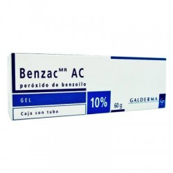 Benzac AC Benzoyl Peroxide Gel 10% 60 g Limit of 3 tubes