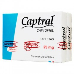 Capoten Capotena Captopril 25 mg 30 Tabs