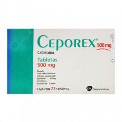 Cephalexin ceporex 500 mg 21 tabs