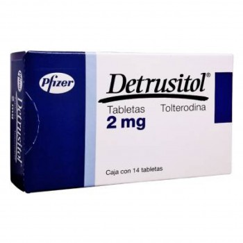 Detrol Detrusitol tolterodine tartrate 2 mg 28 tabs
