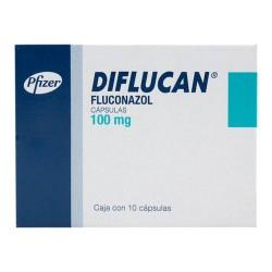 Diflucan Fluconazole 100 mg 10 Caps