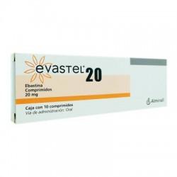 Evastel Pinavalt Ebastine 20 mg 10 Tabs