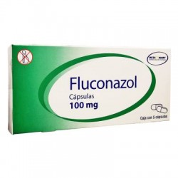 Diflucan Fluconazole Gen 100 mg 5 Cap