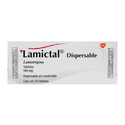 Lametec Lamictal Lamotrigine dispersibles 100 mg 28 tabs