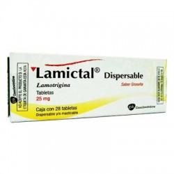 Lametec Lamictal Lamotrigine dispersibles 25 mg 28 tabs