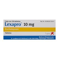 Lexapro Escitalopram 10 mg 28 tabs