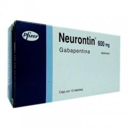 Neurontin Gabapentin 600 mg 15 Caps